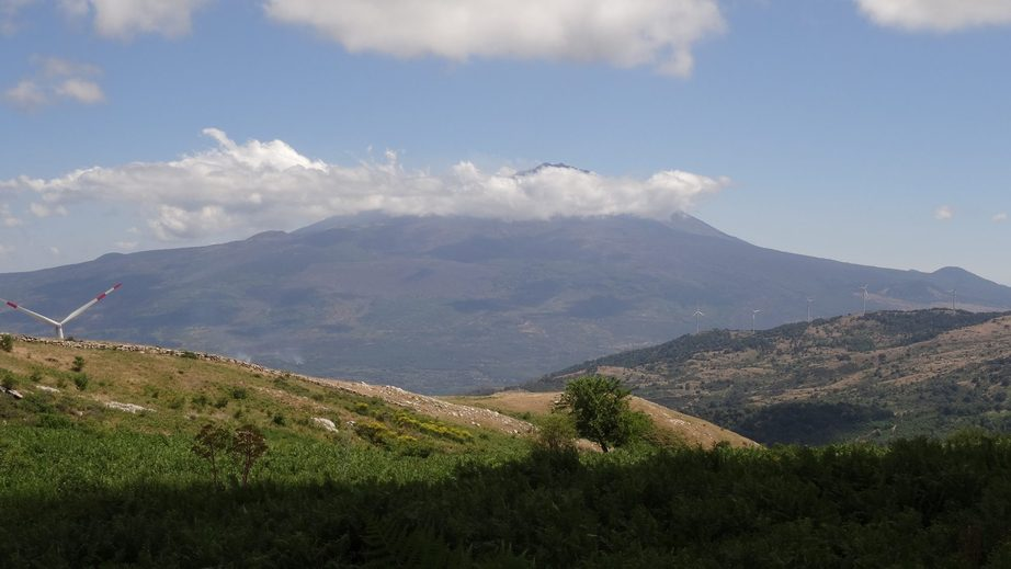 view to mount Etna