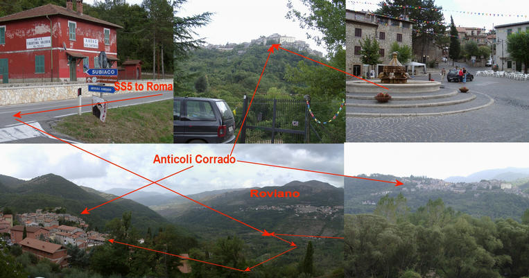 Anticoli Corrado and the surrounding landscape