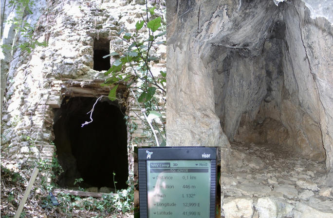 A cave close to CP formerly used as shelter