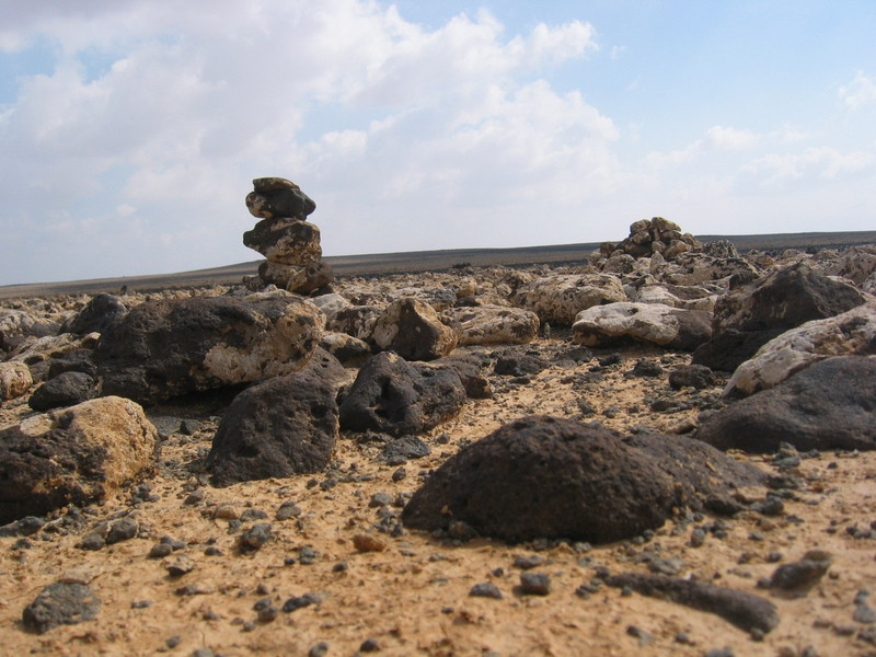 Two cairns at the Confluence
