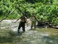 #2: Mitch and Krista walking in the stream.