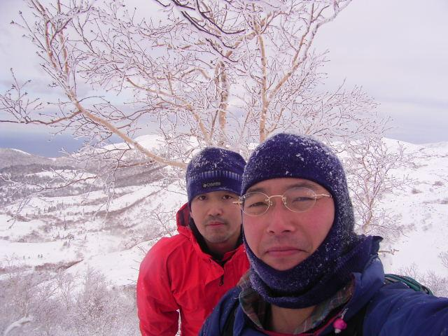 MASAO(behind) & TOMOHIRO(front) at the confluence