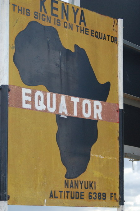Equator mark by the main road