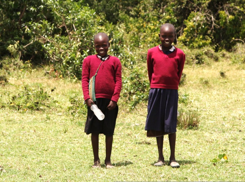 Two Masai School Children