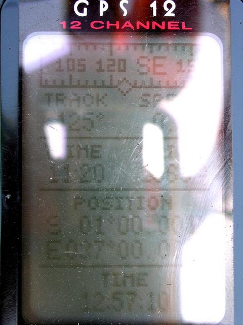 Picture of the GPS, with a reflected self portrait of the camera