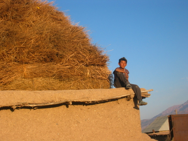 Boy in a Village