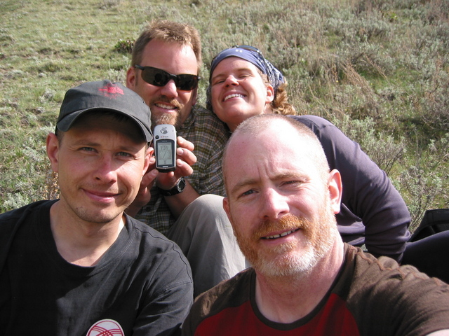L to R Dimitry, Jon, Inga, and Doug at the Confluence
