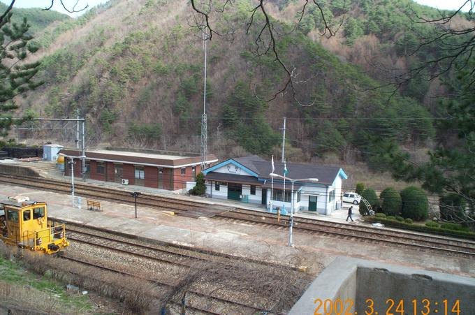 The small train station of Hyeondong is where my trip started from.