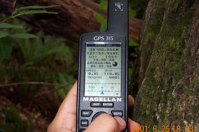 A snapshot of the GPS reading near the location.