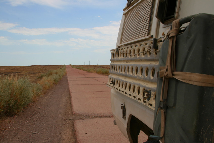Concrete highway through Hunger Steppe