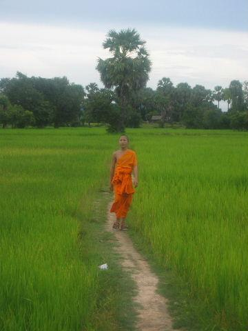 Monk on Don Khong island