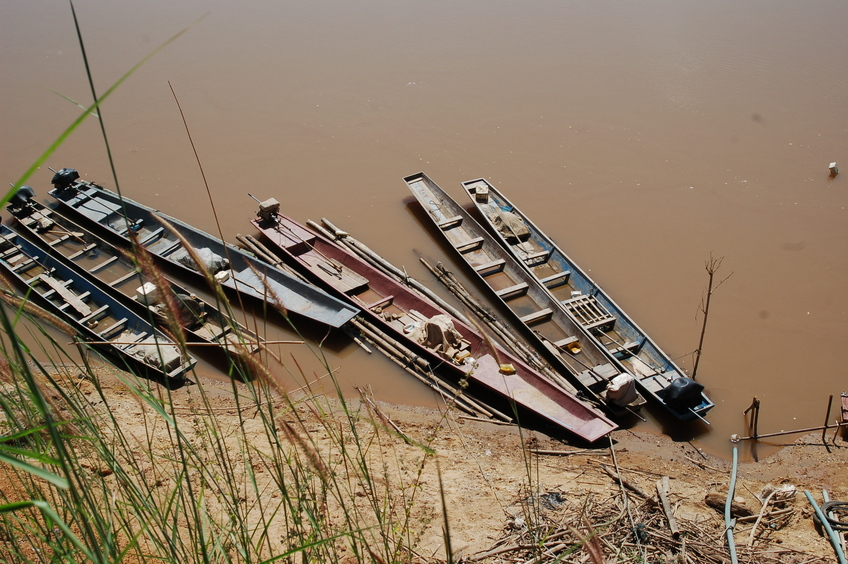 Fishing boats on the Mekong