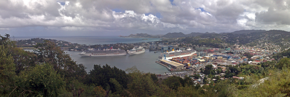 Great view over Castries on the way back