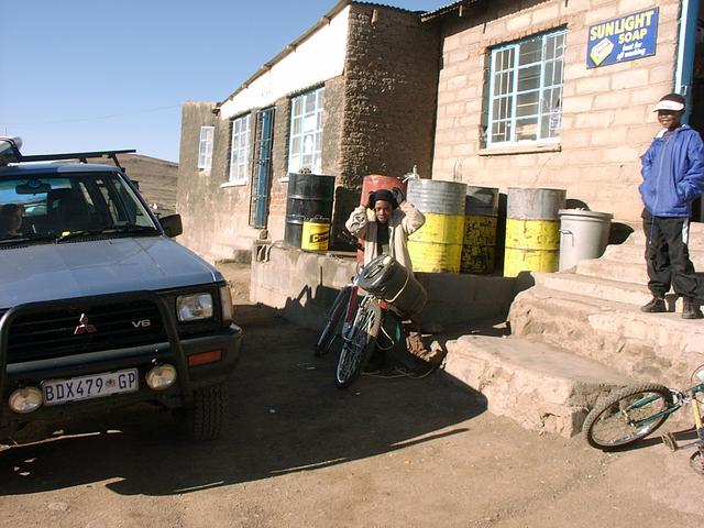 Getting fuel at Thaba-Tseka