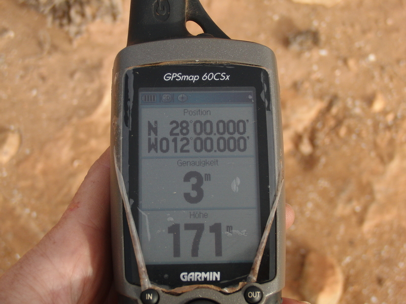 GPS zero in the desert