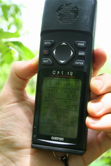 The GPS with coordinates of the point