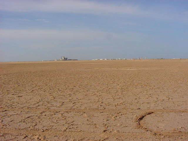 A view west toward the port of Nouakchott