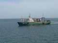 "#3: The Russian trawler ""GREEN"", approaching our ship at the Confluence"