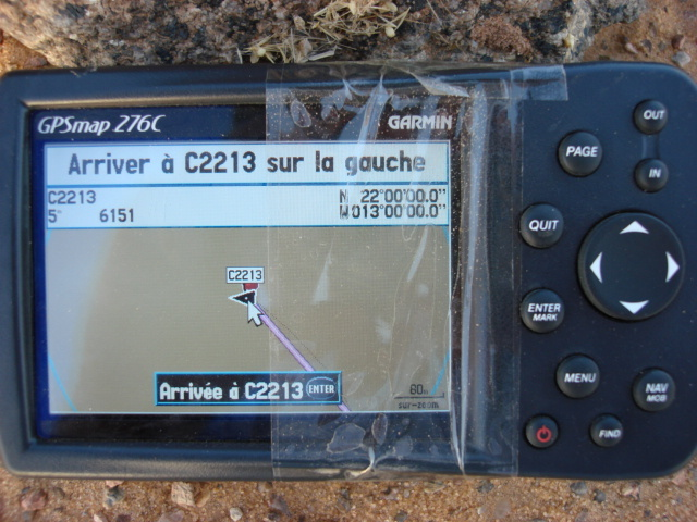 Photo of the GPS at the point