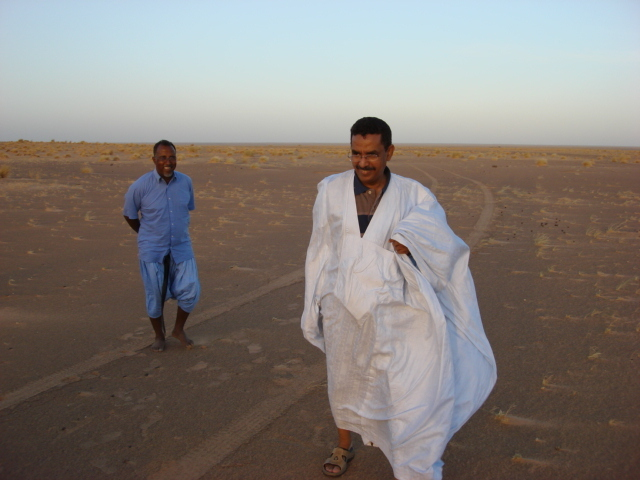 Sidi Mohamed Cheiguer and Yahya ould Nana, discoverers of the point