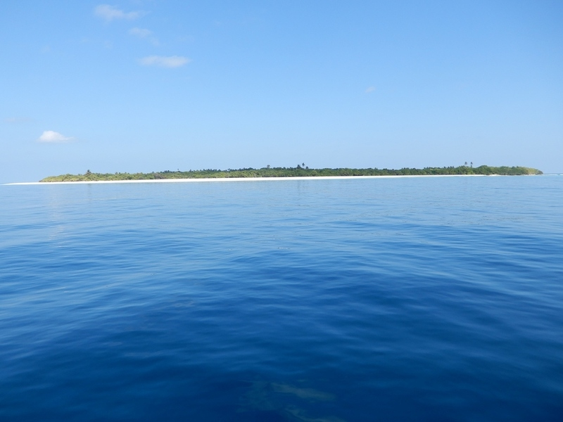 The Confluence; View North to Mulhadhoo Island in 470 m distance