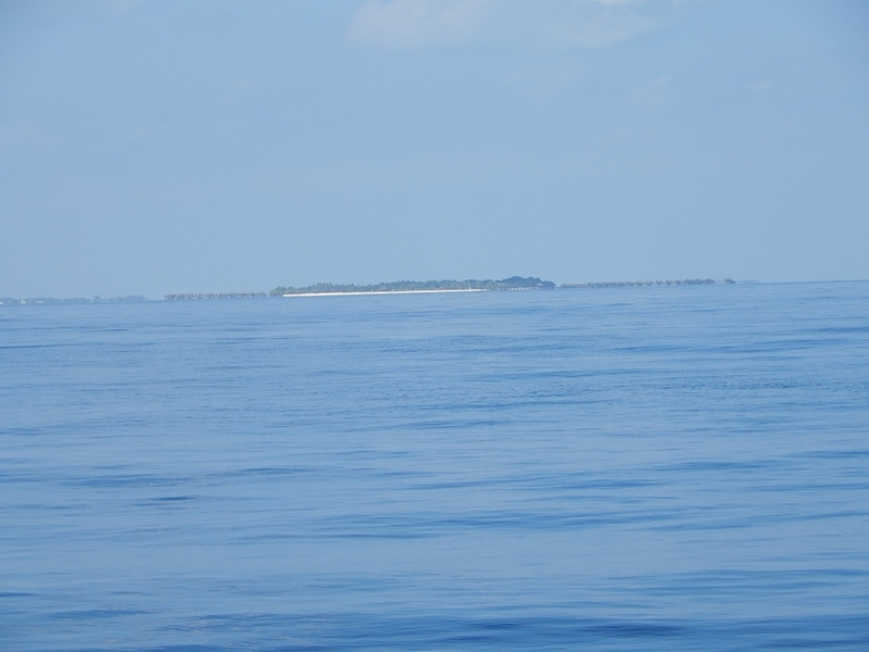 View West to Manafaru Island in 4.6 km distance