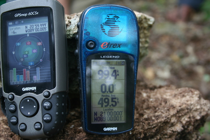 Marco's and Roberto's GPS receivers show slightly different readings...