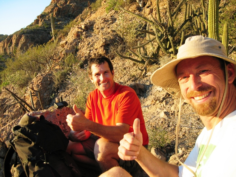 Sean and Bob at the confluence