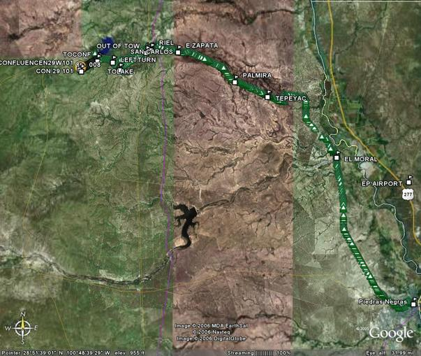 Camino(Track) de PN hacia PC en Google Earth