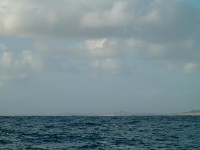 Facing South, the Mozambique mainland visible.