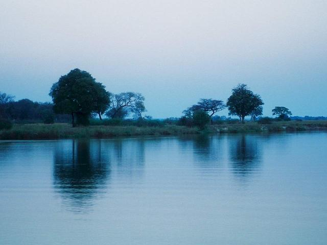 Kavango River at dusk
