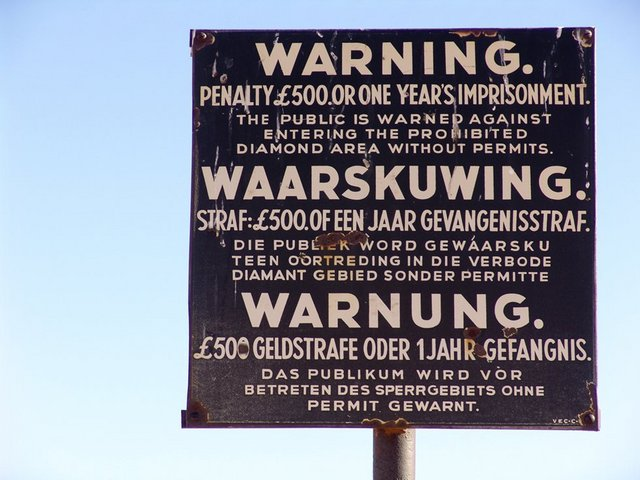 Original Sperrgebiet sign