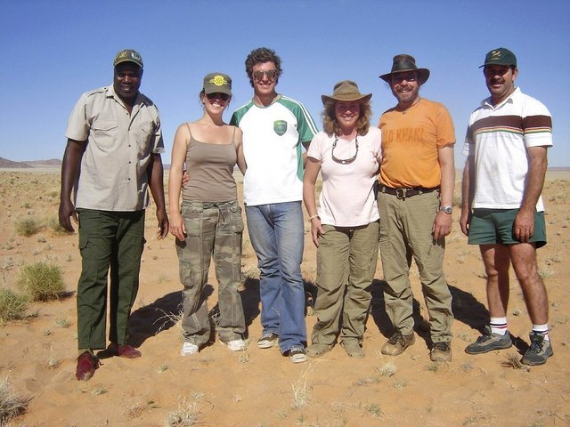 Francis, Kerry, Eamon, Renate, Brian, and Wynand
