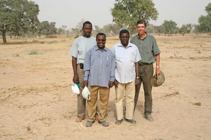 The field team, L to R: A. Souley, L. Mahamane, Y. Guéro, G. Tappan