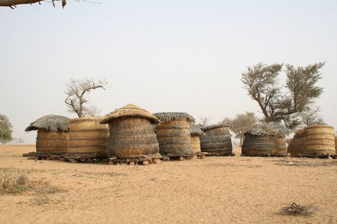Granaries used to store millet and other crops