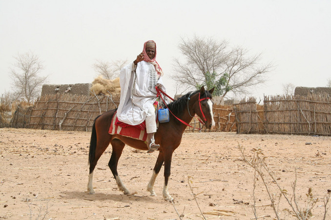 The Hausa are well known for horse riding