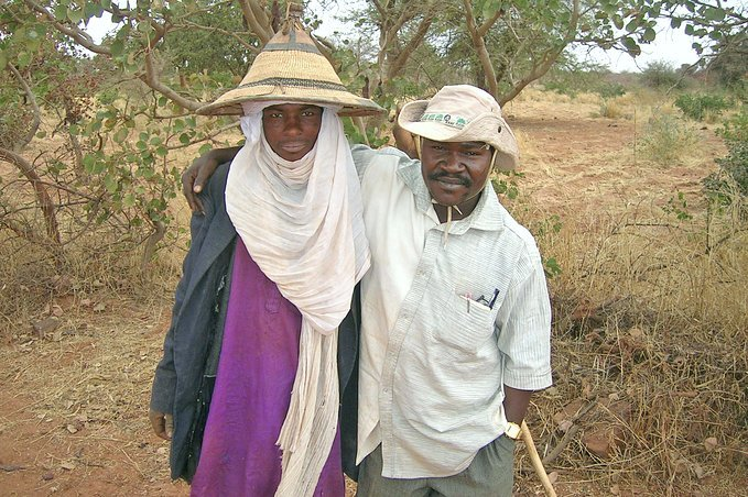 Ecologist Larwanou Mahamane poses with a local herder
