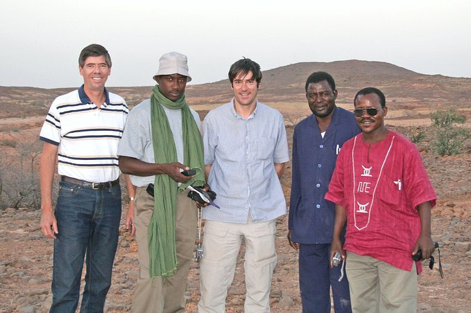Confluence visitors, L to R: G. Tappan, A. Massaoudou, R. Harris, Y. Guéro, L. Mahamane