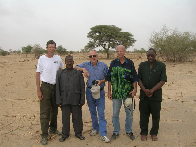 L to R: Gray Tappan, Larwanou Mahamane, Chris Reij, Peter Wright, Adama Toudou