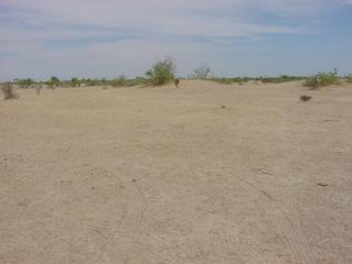 #1: The Confluence including tire tracks where we maneuvered the vehicle to get the zeros