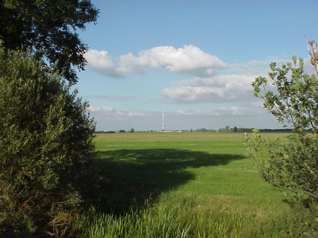 East-view from the spot with the TV tower in IJsselstein.