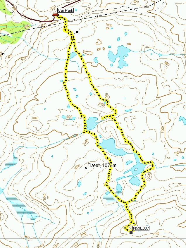 Garmin track log: Take the westerly route!