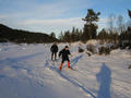 #3: Fredrik and Hans skiing towards the confluence