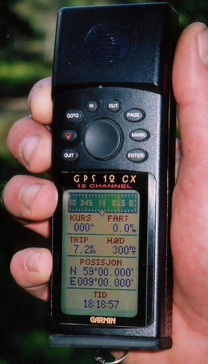 GPS reading at the confluence