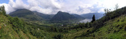 #4: View over Rosendal from the top of the steep pasture