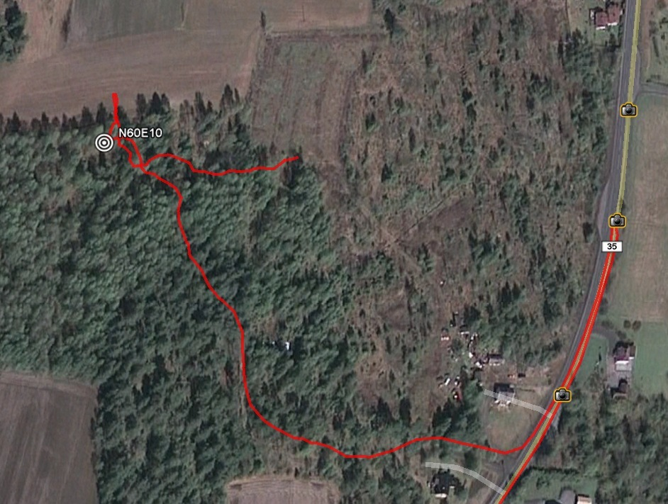 Google Earth track log