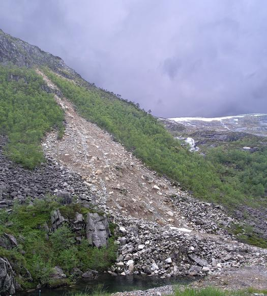 Several avalanches had passed close to or over the road this spring!