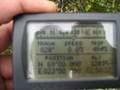 #5: obligatory GPS picture..fairly blurry as the mosquitoes were trying my patience!
