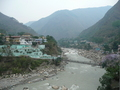 #3: The town of Darchula on the Mahakali River.  India is on the left, Nepal on the right.