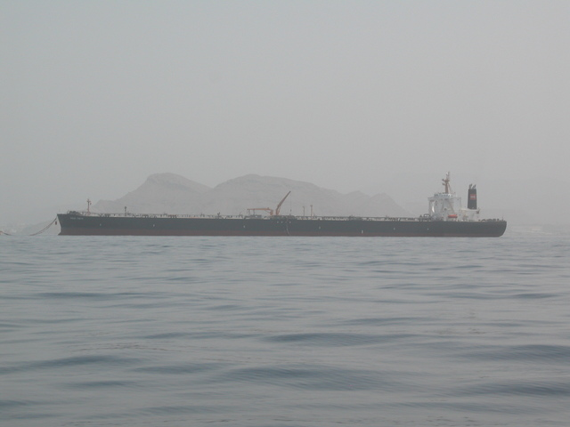 Oil tanker off Masqat